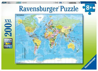 Ravensburger Pussel 200 XXL bitar - Map of the World